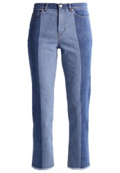 Escada Sport Straight Leg Jeans Blue Denim