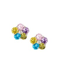 Fragments For Neiman Marcus Multicolor Crystal Floral Stud Earrings