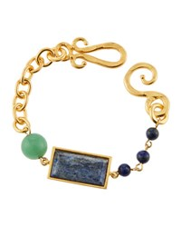Stephanie Kantis Monte Carlo Beaded Chain Bracelet Blue