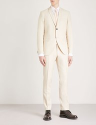 Tiger Of Sweden Jil 8 Slim Fit Wool Linen And Silk Blend Suit Cream