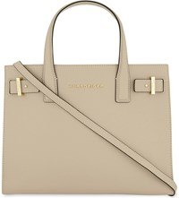 Kurt Geiger London London Saffiano Leather Tote Beige