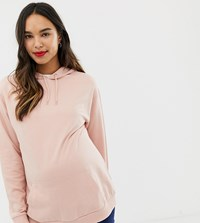 c6de1a73ae2a0f Asos Design Maternity Ultimate Hoodie In Pink