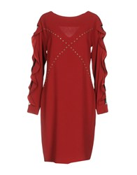 Shirtaporter Knee Length Dresses Brick Red