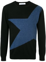 Education From Youngmachines Star Embroidered Sweater Acrylic Nylon Wool Black