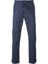 Christian Pellizzari Slim Fit Trousers Blue