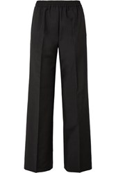 Acne Studios Pammy Wool And Mohair Blend Wide Leg Pants Black
