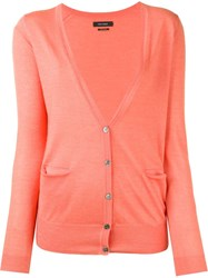 Isabel Marant V Neck Cardigan Pink And Purple