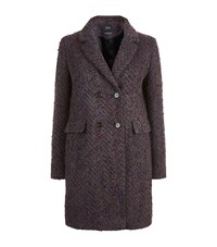 Set Textured Wool Coat Multi