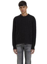 Calvin Klein Nastro Cable Knit Sweater Black