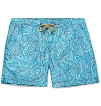 Thorsun Titan Mid Length Printed Swim Shorts Blue
