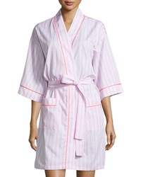 Bedhead Striped Kimono Short Robe Pink Pink Stripe