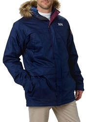 Helly Hansen Faux Fur Trimmed Parka Evening Blue