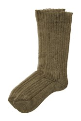 Etro Ribbed Knit Socks Green