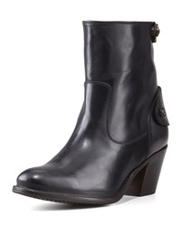 Frye Jackie Short Snap Zip Boot Women's Black
