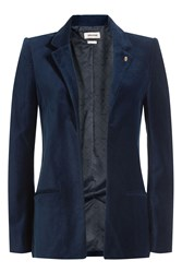 Zadig And Voltaire Velvet Blazer Blue