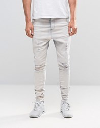 Sik Silk Siksilk Slim Jeans With Distressing Blue