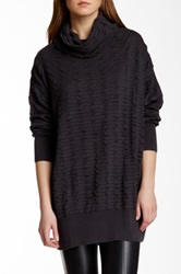 Planet Cowl Neck Sweater Gray