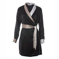 Roses Are Red Cora Silk Dress Black White