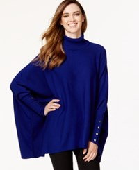 Alfani Petite Turtleneck Poncho Sweater Only At Macy's Alf French