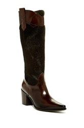 Jo Ghost Diver Genuine Cow Hair Tall Boot Brown