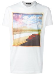 Dsquared2 Highway Photo T Shirt White