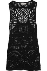 Emilio Pucci Crocheted Cotton Blend Tank Black