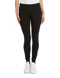 Three Dots Ponte Seamed Leggings Black