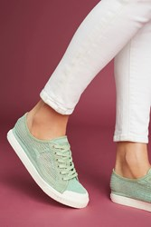 Anthropologie Tretorn Perforated Sneakers Green