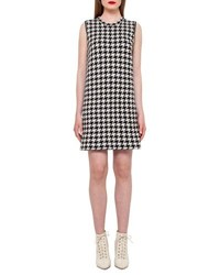 Akris Reversible Houndstooth Cashmere Dress Black Moonstone Black Moonstone