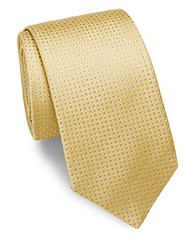 Saks Fifth Avenue Patterned Silk Tie Gold
