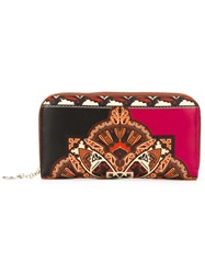 Etro Pattern Print Continental Wallet Black