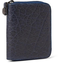 Parabellum Courier Zip Around Leather Billfold Wallet Blue