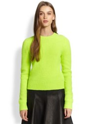 Polo Ralph Lauren Wool Crewneck Sweater Neon Green