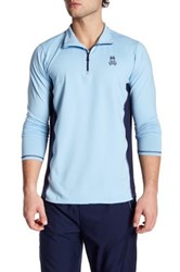 Psycho Bunny Lounge Quarter Zip Performance Pullover Blue