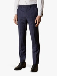 Ted Baker Cooper Wool Check Tailored Suit Trousers Navy
