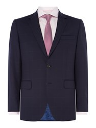 Chester Barrie Men's Windowpane Suit Jacket Blue