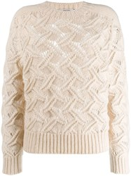 Dorothee Schumacher Knitted Fitted Sweater White