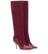 Malone Souliers Madison 70 Suede Knee High Boots Red