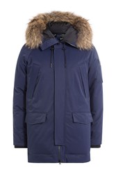 Kenzo Parka With Raccoon Fur Hood Blue