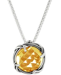 Peter Thomas Roth Citrine Adjustable Pendant Necklace 4 Ct. T.W. In Sterling Silver Orange