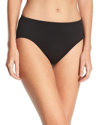 Lablanca High Waisted Tummy Toner Swim Bikini Bottom Plus Size Black White