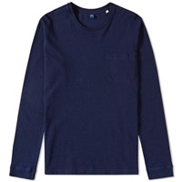Edwin Crew Long Sleeve Marvin Tee Blue