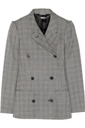 Alexander Mcqueen Glen Plaid Wool And Mohair Blend Blazer Gray
