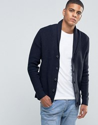 Selected Homme Shawl Collar Cardigan Navy