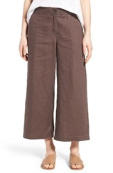 Eileen Fisher Women's Organic Linen Crop Pants Cobblestone