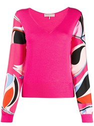 Emilio Pucci Contrasting Sleeves Knitted Top 60