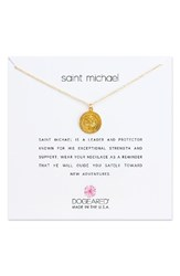 Dogeared Women's Saint Michael Pendant Necklace