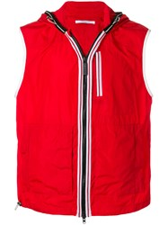 Givenchy Hooded Gilet Red