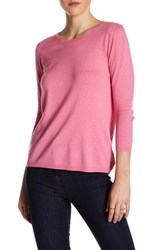 Kier And J Crew Neck Knit Sweater Pink