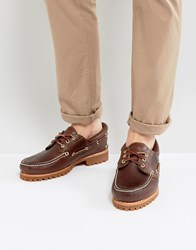 Timberland Classic Lug Boat Shoes In Brown Brown